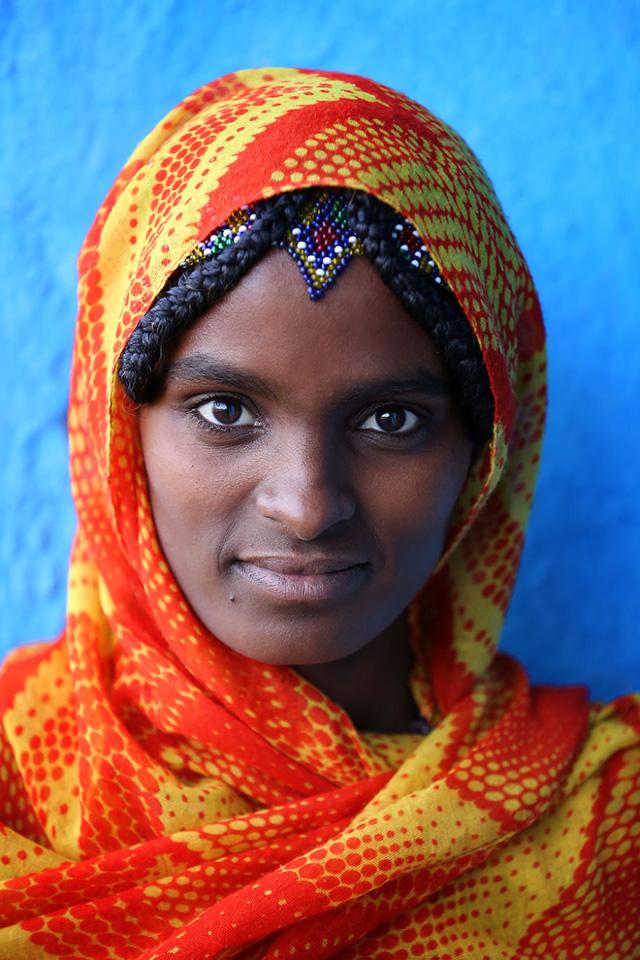 Afar Kadın Portre Fotoğrafı