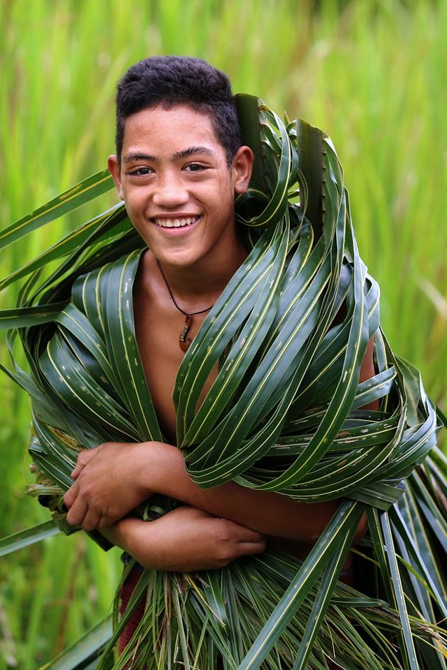 Samoalı Genç Erkek Portre Fotoğrafı