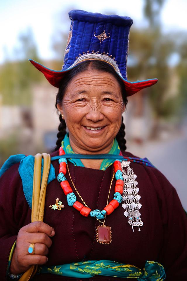 Ladakhi Kadın Portre Fotoğrafı