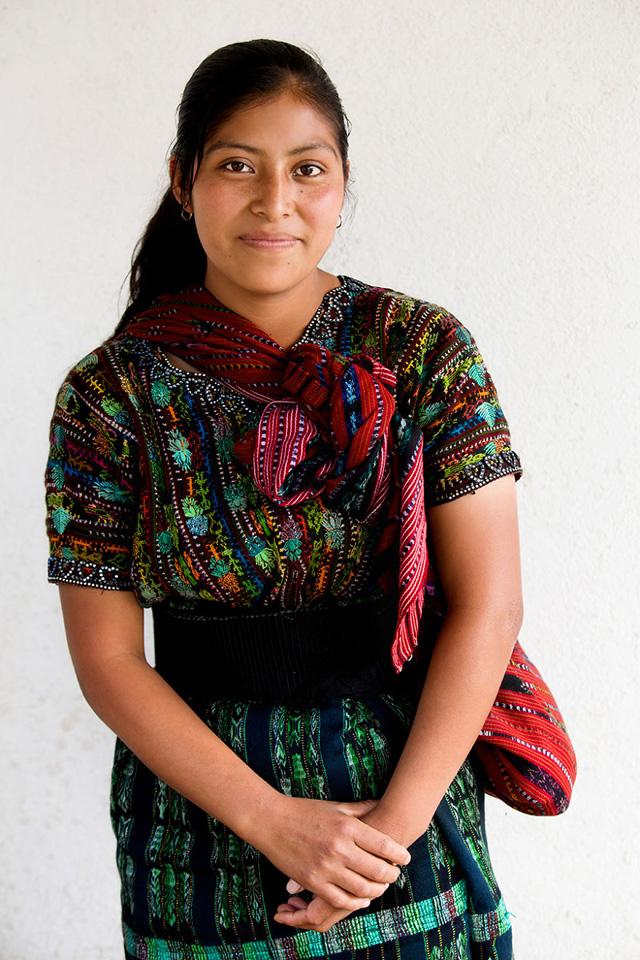 Maya Genç Kızı Portre Fotografı