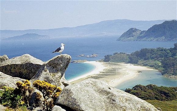 Islas Cies sahilleri, İspanya