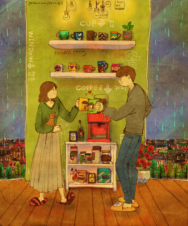 Aşk birlikte kahve içerek güne başlamaktır