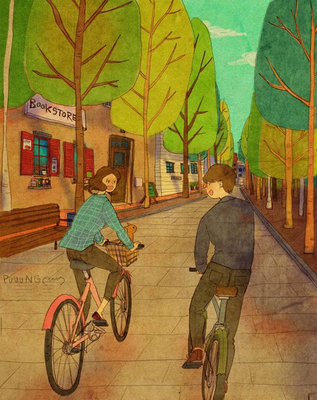 Aşk birlikte bisiklete binmektir