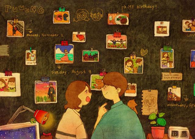 Aşk duvarda fotoğraflarınızdan bir albüm oluşturmaktır