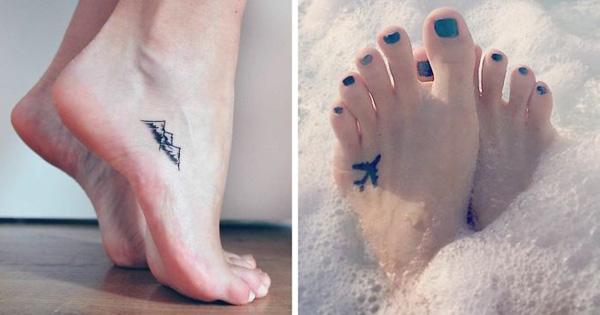 Ayak Dövmesi - Küçük Dövme Modelleri