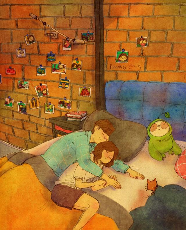 Aşk birlikte uyuklamaktır