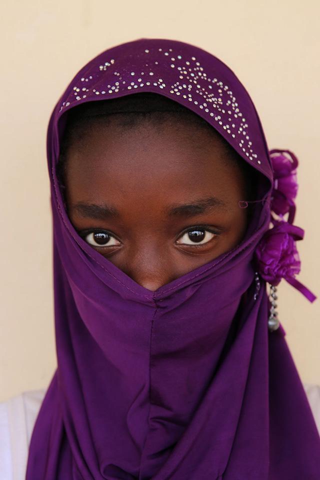 Moritanyalı Genç Kız Portre Fotoğrafı