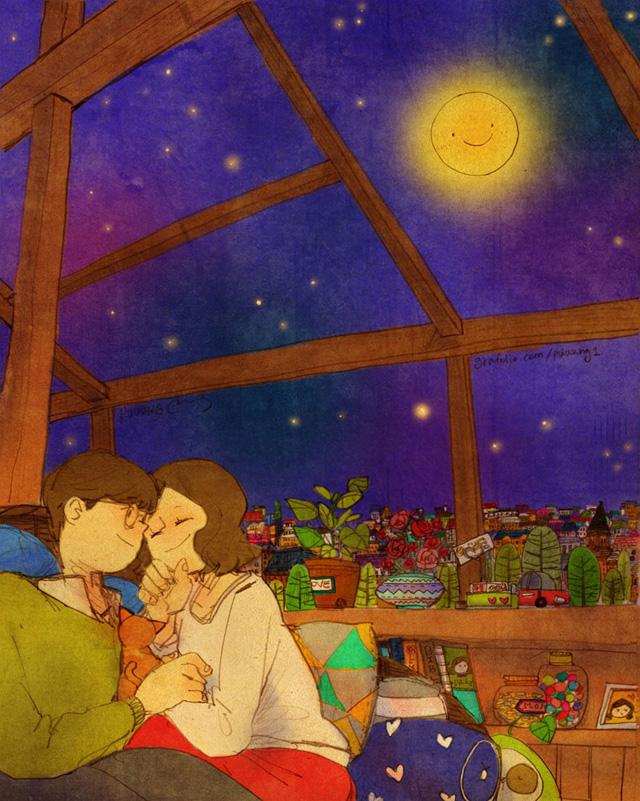 Aşk ay ışığında birbirine sarılmaktır