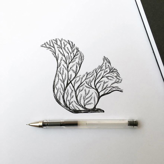 Karakalem Hayvan Resimleri