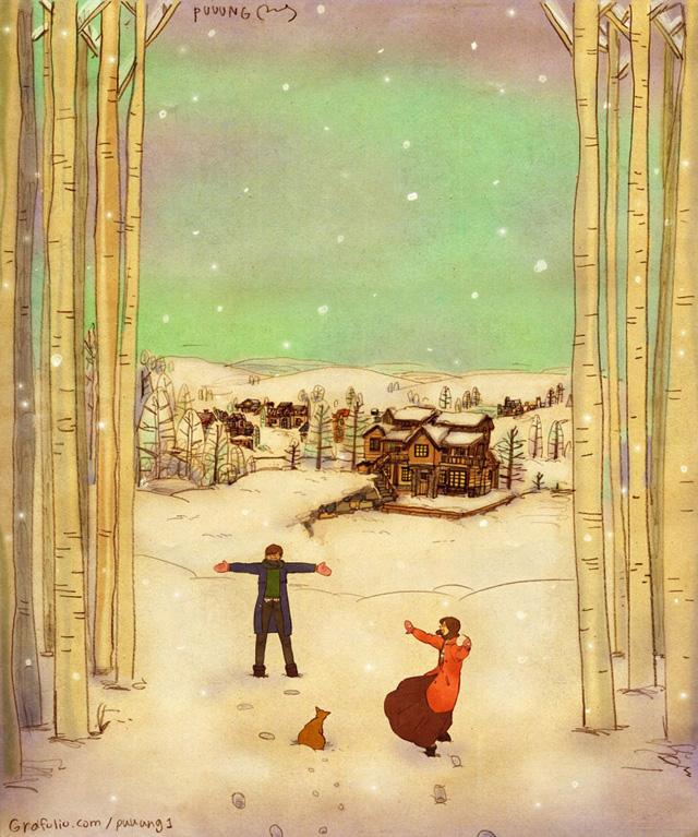 Aşk birlikte karla oynamaktır