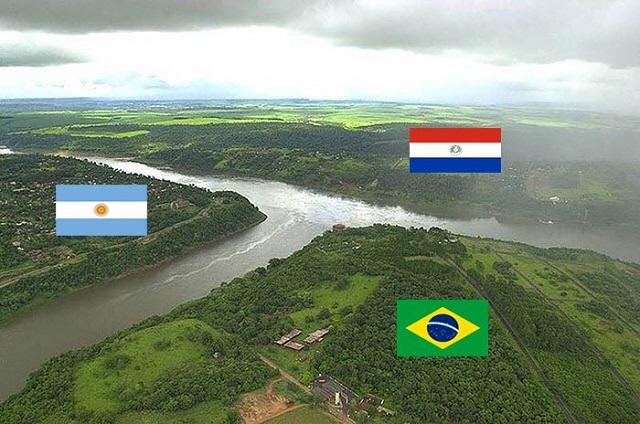 Arjantin - Brezilya - Paraguay Sınırı