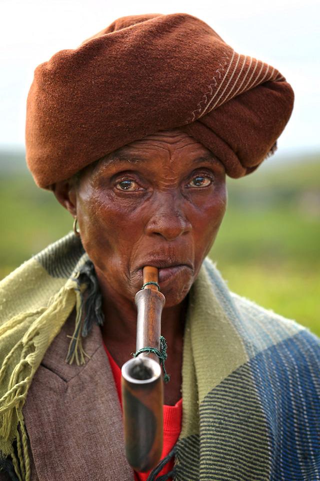 Xhosa Kabilesinden Kadın Portre Fotografı