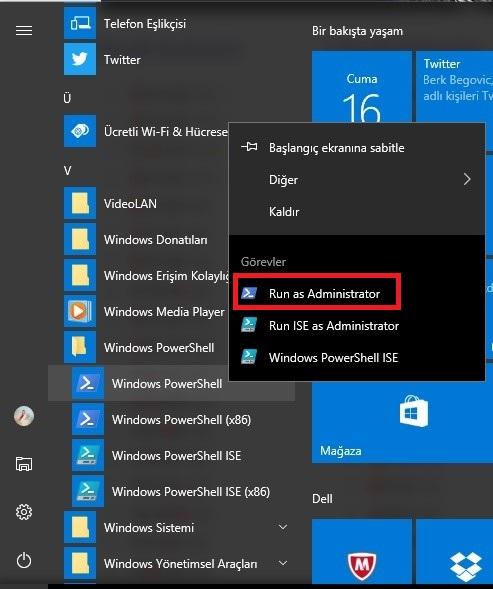 Windows 10 Mağaza Açılmıyor Sorunu