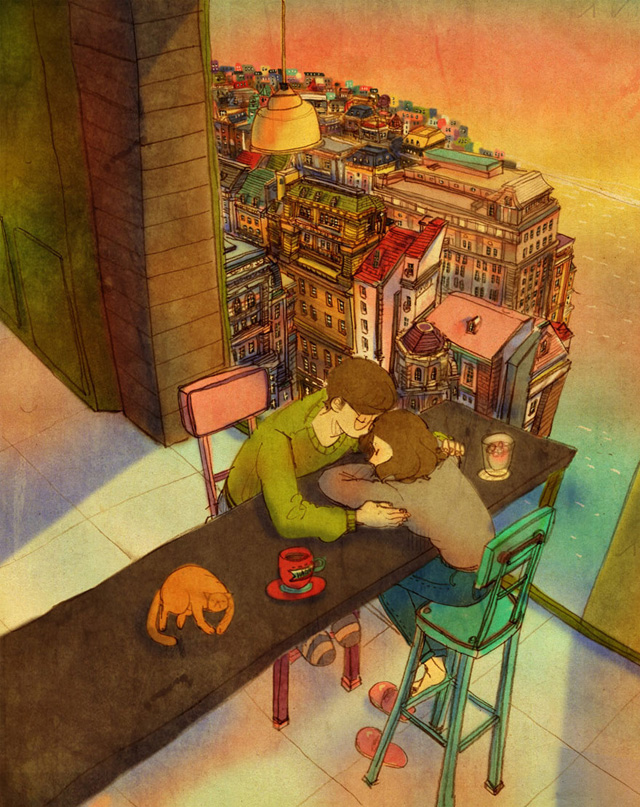 Aşk gergin olunduğunda birbirini rahatlatmaktır