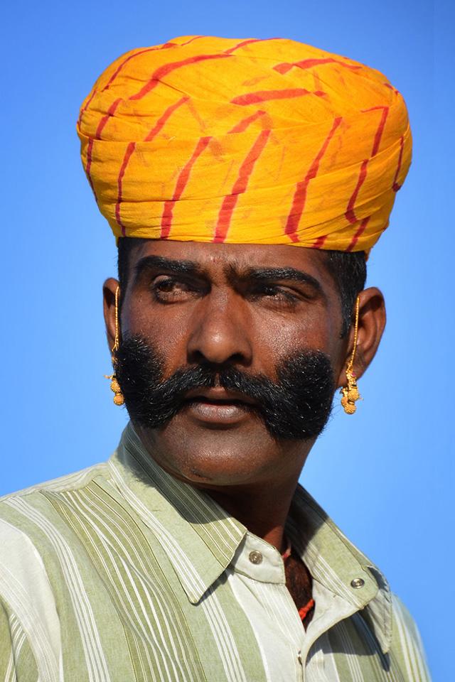 Rajastani Erkek Portre Fotoğrafı
