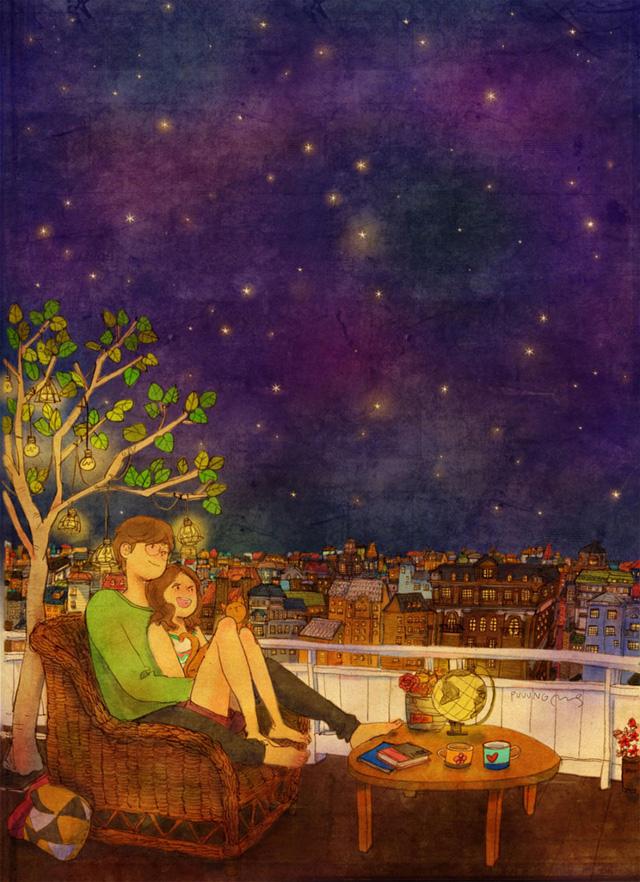 Aşk gitmek istediğiniz yerler hakkında konuşmaktır